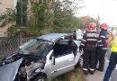 Accident cu opt victime și trei mașini implicate. FOTO – VIDEO. Cauza accidentului a fost neacordarea de prioritate
